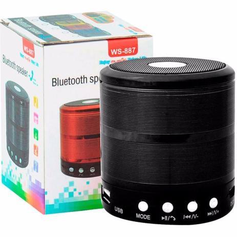 Imagem de Mini Caixa Caixinha Som Portátil Bluetooth Mp3 Fm Sd Usb Hifi wireless pendrive Preto