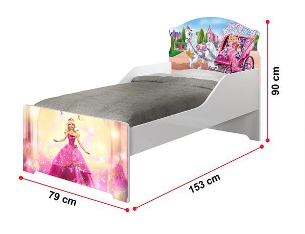2aef8f4fd2 Mini Cama Infantil Barbie com Colchão