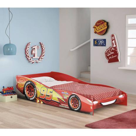 1ac7fefd78 Mini Cama Infantil Carros Disney Vermelho - Pura Magia - Cama ...