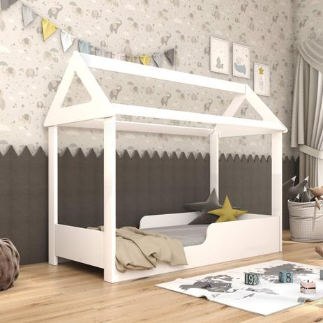 Imagem de Mini Cama Infantil Montessoriana Bella Tcil Móveis Branco