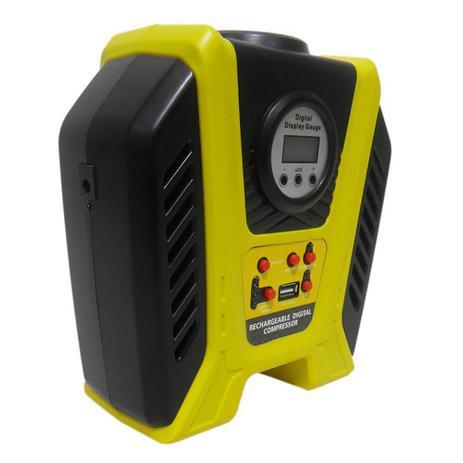 9e53b2a2d5 Mini Compressor Ar Recarregavel USB Carro Digital Pneu Bola Automotivo  Portatil - Braslu