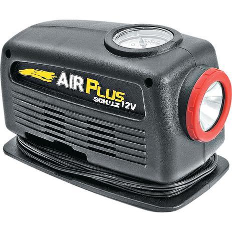 a042c9c0a4 Mini Compressor de Ar 80W com Pressão Máxima de 20BAR e Lanterna Air Plus  Schulz 12V