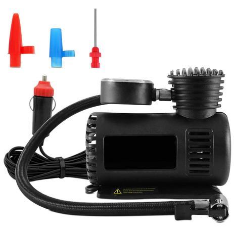 Imagem de Mini Compressor de Ar Automotivo Multiuso Compacto 12V 300 PSI 20,7 Bar Preto