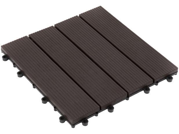 Imagem de Mini Deck de Polipropileno Frisado Ipê 30x30cm