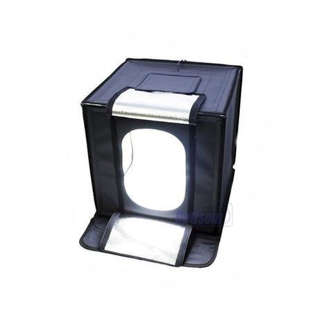 Imagem de Mini estúdio fotográfico Greika com iluminação led - 40 x 40 cm