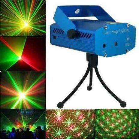 Mini Laser Stage Lighting Projetor Holografico Tripe SD-09 - Xtrad