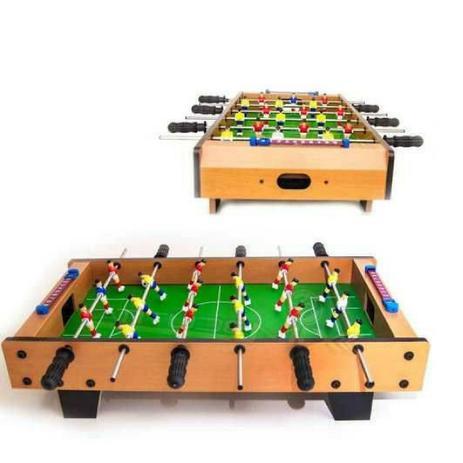03fbcc8900 Mini Mesa Pebolim Grande Totó Futebol 18 Jogadores Completa - Brilho  diamante