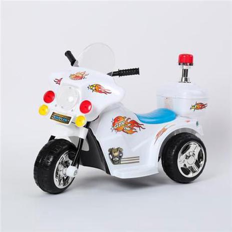 abedbb4f5b591 Mini Moto Eletrica Infantil Branca - Bateria Recarregável de 6V - Import  Way - Importway sp