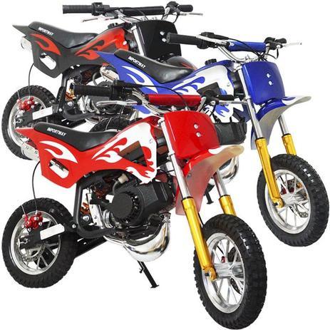 Mini Moto Infantil Gasolina 2 Tempos 49cc Cross Trilha Off Road