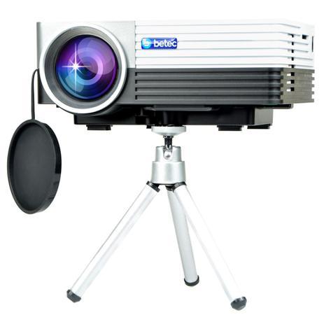 Imagem de Mini Projetor Led Portátil Betec - 800 Lumens - 100 Pol. - Tripé - Entr. HDMI, VGA, AV-RCA, SD e USB