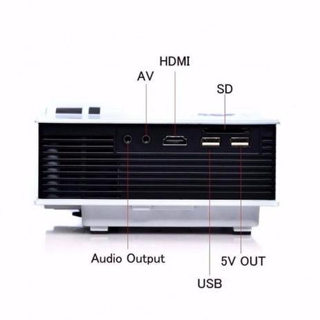 Imagem de Mini Projetor Led Portatil Filmes Hdmi Usb 1080p 130 Polegada 800 Lumens Uc40 Bivolt