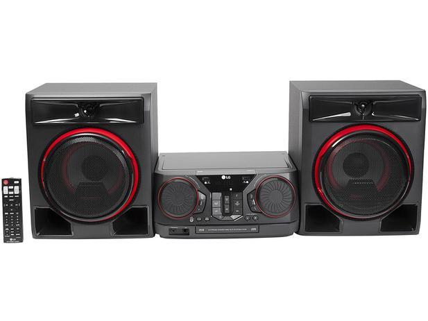 Mini System LG Bluetooth USB CD Player AM/FM - MP3 620W 2 Caixas Xboom CK56