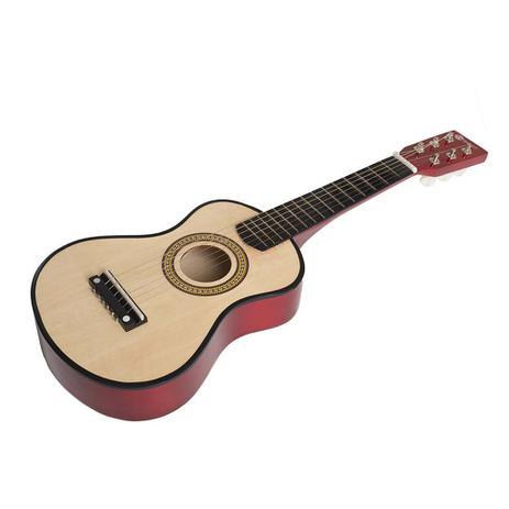 Imagem de Mini Violão Acústico Palheta Crianças Infantil Corda Nylon
