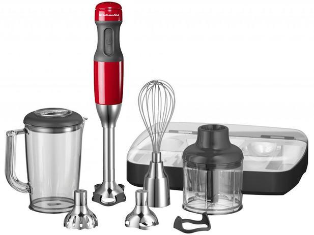 Mixer KitchenAid Vermelho 180W Chef - Immersion Blender 5 Velocidades - 110V