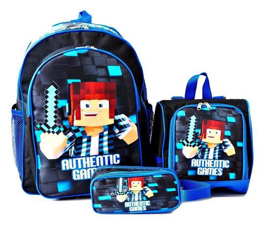 Imagem de Mochila Authentic Games Costas Azul Lancheira