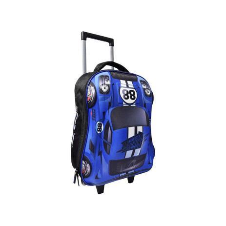 5d77d7bc3 Mochila Azul Carro Fast Machine 3D com Rodinhas Clio Style - Azul ...
