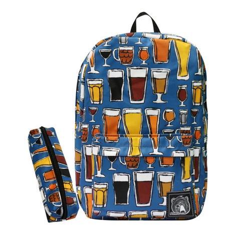 aa7b93186e2f3 Mochila Drinks + Estojo Escolar + Chaveiro - Polaris - Mochilas para ...