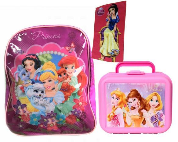 8551a5942 Mochila Escolar das Princesas com Lancheira e Potes Disney - Dermiwil