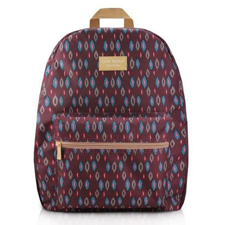 d15e719ab Mochila Escolar Feminina de Costas com Compartimento Frontal - Jacki Design