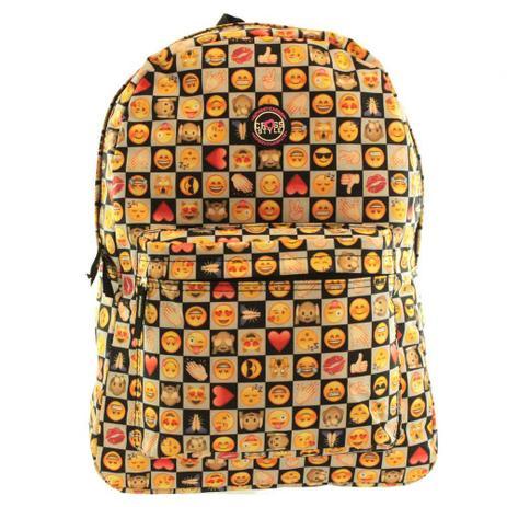 bc2323a89 Mochila Escolar Juvenil Emojis CR8130 Clio Style Preta - Mochila juvenil