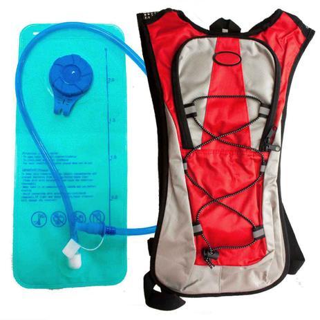 Imagem de Mochila Hidratação 2 Litros Bolsa Água Impermeável Bike