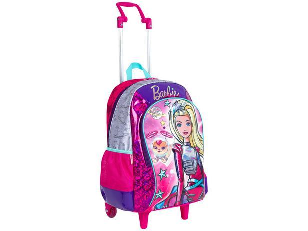 Mochila Infantil com Rodinhas Sestini Barbie - Aventura Nas Estrelas com Caixinha de Som
