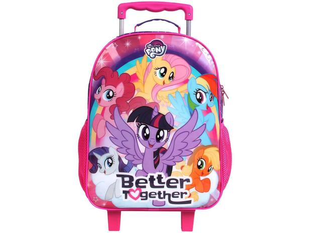 Mochila Infantil Escolar Feminina de Rodinha - Tam. G DMW Easy My Little  Pony Rosa e Roxo 4fddb61af8ceb