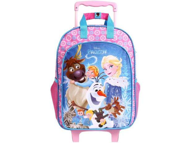 fcd66a168 Mochila Infantil Escolar Feminina Tam. G - de Rodinhas Dermiwil Max Disney  Frozen Rosa