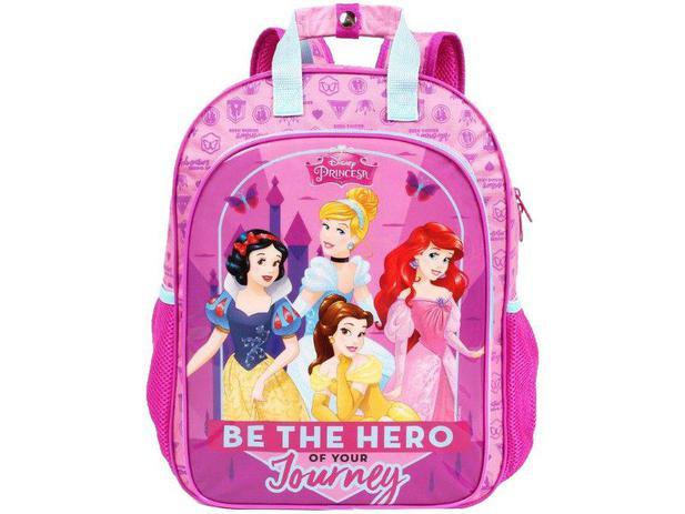 705feb5f5 Mochila Infantil Escolar Feminina Tam. G Dermiwil - Max Disney Princesas  Rosa