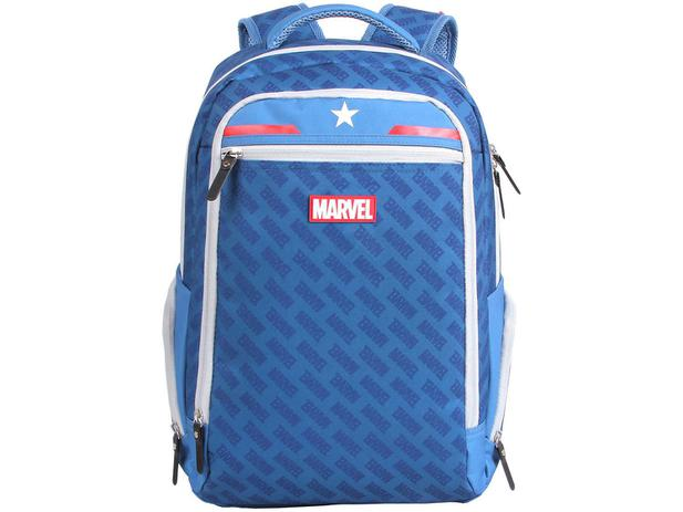 397cb10db Mochila Infantil Escolar Masculina Tam. G DMW - Marvel Capitão América Azul