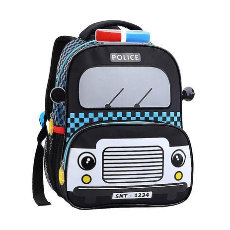 Imagem de Mochila Infantil Escolar Taxi, Polícia, Bombeiros Costas Tam M
