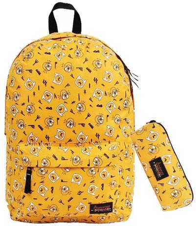 606d7d885 Mochila Infantil Impermeável Escolar Hora Da Aventura Amarelo G + Estojo  Personalizado - Dmw