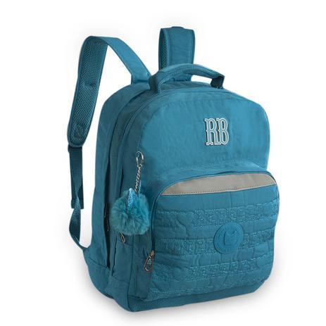 54d449fea Mochila Juvenil Azul Com Pompom RB9129 Rebecca Bonbon - Mochila ...