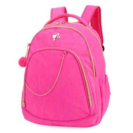540a1a67b Mochila Juvenil Barbie Crinkle P/ Notebook Rosa - Luxcel - Bolsas e ...