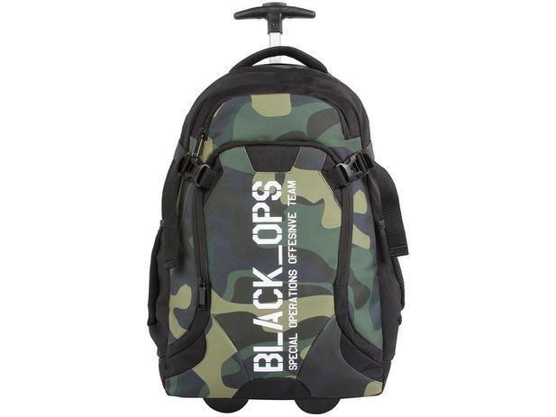 f5f3a97c95 Mochila Juvenil Escolar Masculina de Rodinha - Tam. G DMW Generation Black  Ops Camuflada