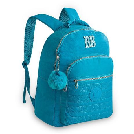 d17348565 Mochila Juvenil Rebecca Bonbon Crinkle RB9128 - Azul Claro - Mochila ...