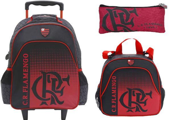 3d8ee655c Mochila Rodinhas Flamengo Kit Lancheira Estojo Xeryus G16 - Mochilas ...