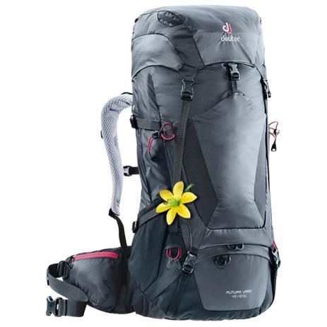 26775fc59f Mochila Semi-Cargueira Deuter Futura Vario 45+10 SL 2018 para Trekking  Cinza e Preto