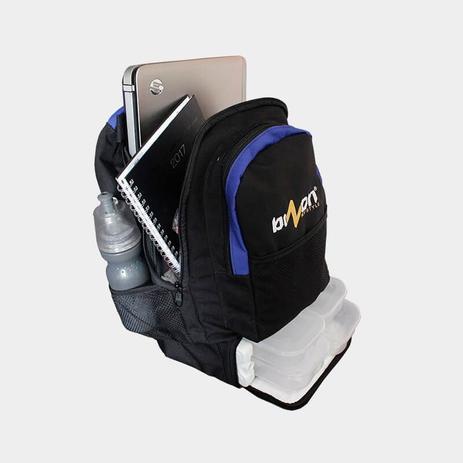 Imagem de Mochila Térmica Fitness (Preto com Azul)