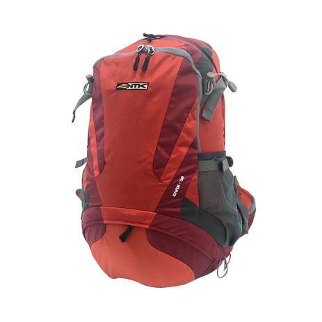 Imagem de Mochila Viagem Camping Nautika Civik 38lt Vermelha Com Capa De Chuva