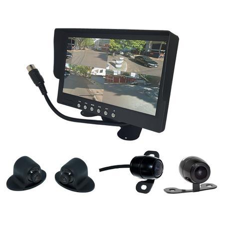 Imagem de Modulo Multicameras Roadstar com Monitor + 4 Cameras