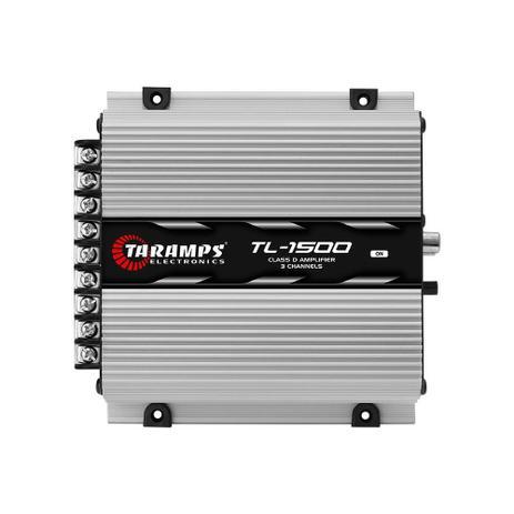 Imagem de Módulo Taramps TL1500 390W RMS 3 Canais 2 Ohms Amplificador Digital  Som Automotivo