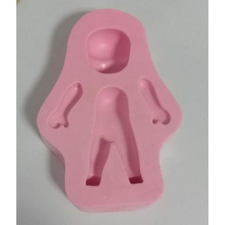 Imagem de Molde de silicone boneco universal para decorar f494