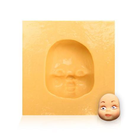 Imagem de Molde de Silicone para Biscuit Casa da Arte - Modelo: Rosto de Boneca 020
