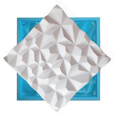 Imagem de Molde Silicone P/ Placas De Gesso 3d Impress Diamante 29x29
