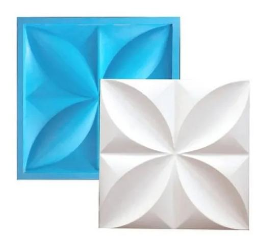 Imagem de Molde Silicone Para Placa 3D - Gesso / Cimento  - Petalas 29x29