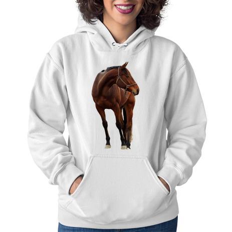 585512bfefac32 Moletom Feminino Cavalo Andaluz - Branco - Foca na Moda