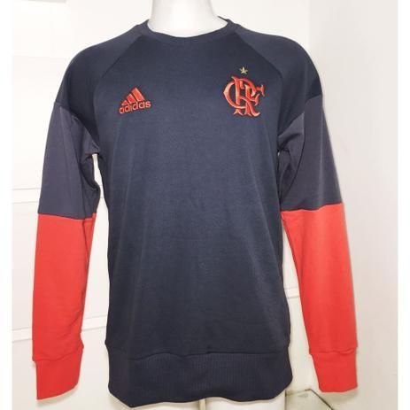 Moletom Flamengo Treino Chumbo   Vermelho - Adidas - Futebol ... 8e31596674bff