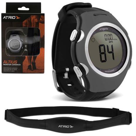12f194de662 Monitor Cardíaco Smart Run Atrio HC008 Preto e Cinza Relógio Esportivo  Contador Calorias Com Cinta