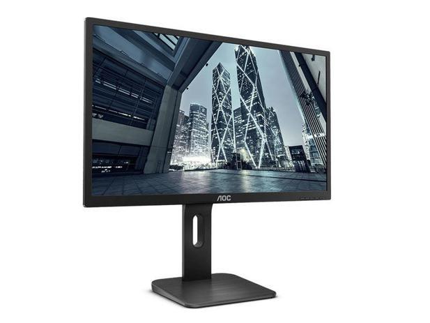"""Monitor Corporativo AOC 9P1E 18,5"""" LED 1366X768 Widescreen Preto"""